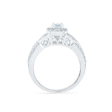 Adorning Diamond Garnish Engagement Ring