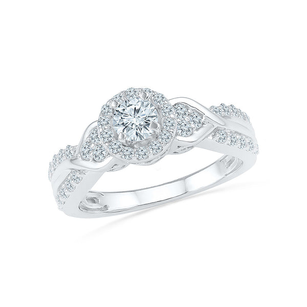 Adorning Diamond Garnish Engagement Ring - Radiant Bay