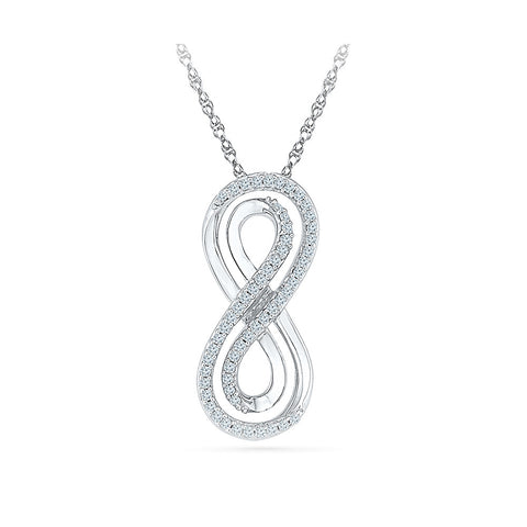 finely diamond studded infinity pendant in 14k and 18k Gold online for women
