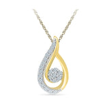 Pear Luminance Diamond Pendant
