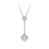 9/14/18 Carat Silver/White/Yellow/Rose Gold Drop Diamond pendant in Prong Setting