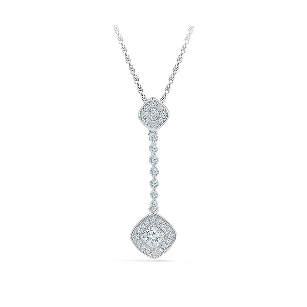 Dazzling Drop Diamond Pendant in 14k and 18k Gold online for women