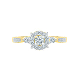 Diamond Drizzle Engagement Band Ring