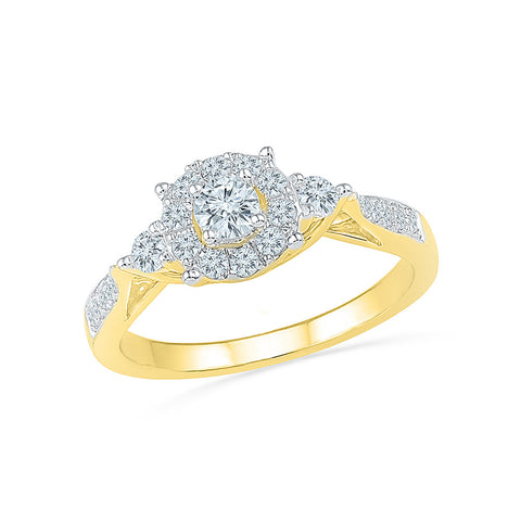 14kt / 18kt white and yellow gold Diamond Drizzle Engagement Band Ring in PRONG for women online
