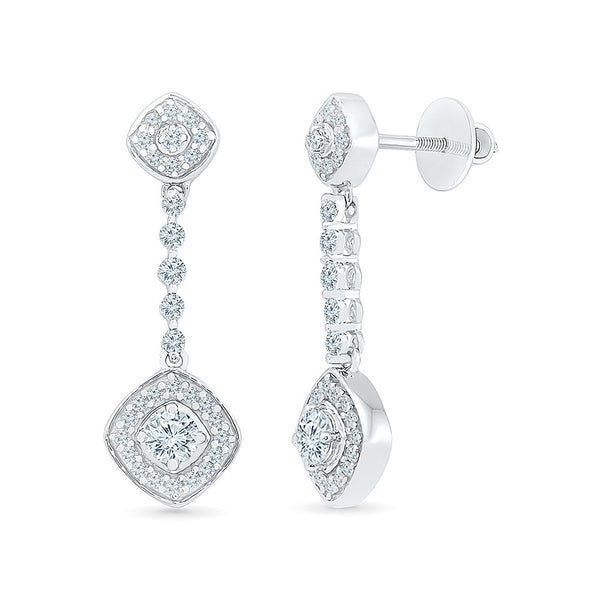 Delightful Diamond Drop Earrings in 14k and 18k gold for women online
