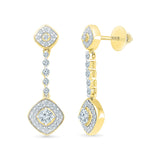 Delightful Diamond Drop Earrings