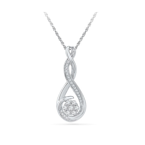 Delicate Bloom Diamond Pendant