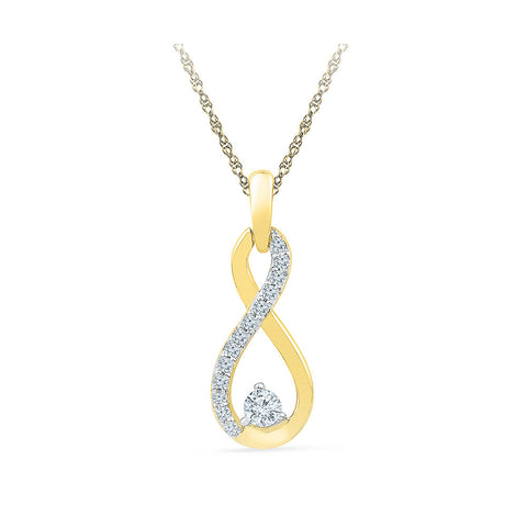 Infinity Sparkle Diamond Pendant in 14k and 18k Gold online for women
