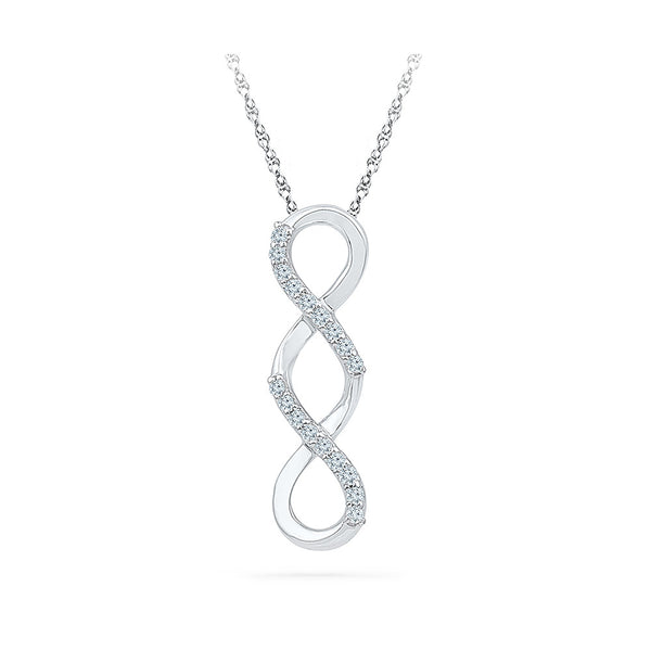 Dous Infinity Diamond Pendant  in 14k and 18k Gold online for women