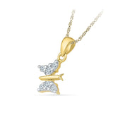 Fine Butterfly Diamond Pendant
