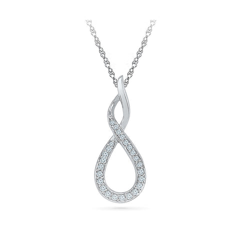 Infinity Twirls Diamond Pendant in 14k and 18k Gold online for women