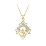 religious durga maa diamond pendant in gold for women online