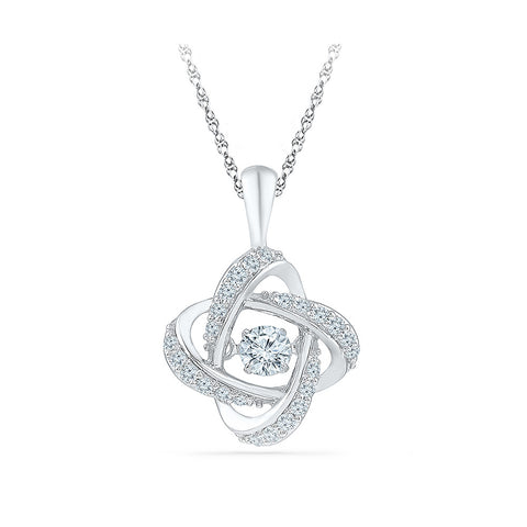 Entrancing Heartbeat Diamond Pendant  in 14k and 18k Gold online for women