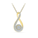 Equipoise Diamond Pendant in 14k and 18k Gold online for women