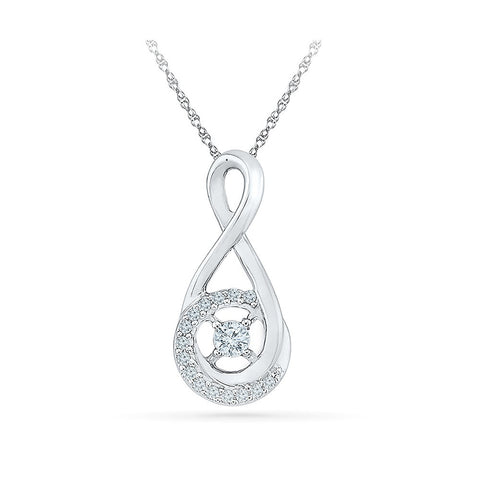 Solitary Sparkle Diamond Pendant in 14k and 18k Gold online for women