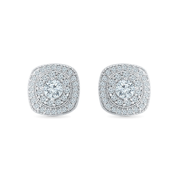 Spectatcular Diamond Square Studs
