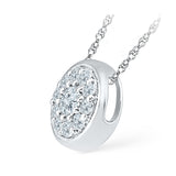 Flower Contour Diamond Pendant