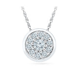 affordable round diamond pendant in 14k and 18k Gold online for women