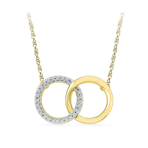 14k and 18k Gold Balance of Both Diamond  Pendant in Prong setting online for women