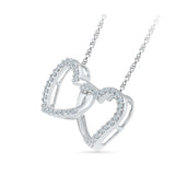 Heart Duo Diamond Pendant with Chain
