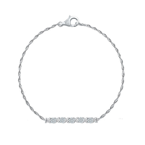 regular wear diamond bracelet  in white and yellow gold