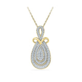 Voluminious Studded Drop Pendant in 14k and 18k Gold online for women