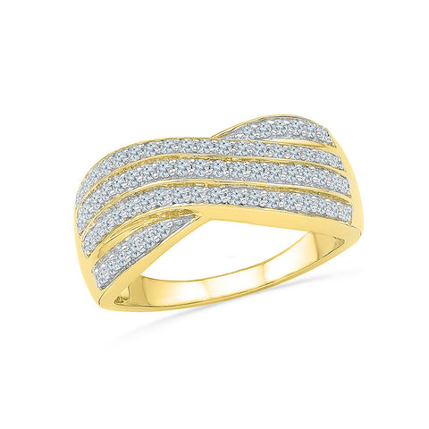 Diamond Ripples Cocktail Ring