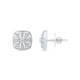 Splendid Square Diamond Stud Earrings
