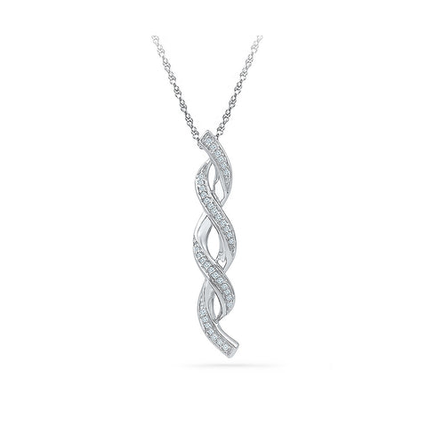 Infinity Twists Diamond Pendant in 14k and 18k Gold online for women