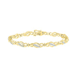 elegant diamond bracelet  in white and yellow gold