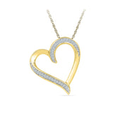 The Heartbeat Diamond Pendant in 14k and 18k Gold online for women