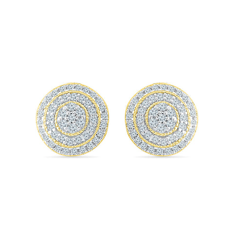 Charismatic Circle Diamond Stud Earrings in 14k and 18k gold for women online