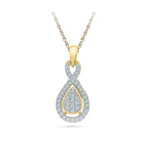 Diamond Accent Teardrop Pendant