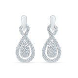 Voluminious Diamond Drop Earrings