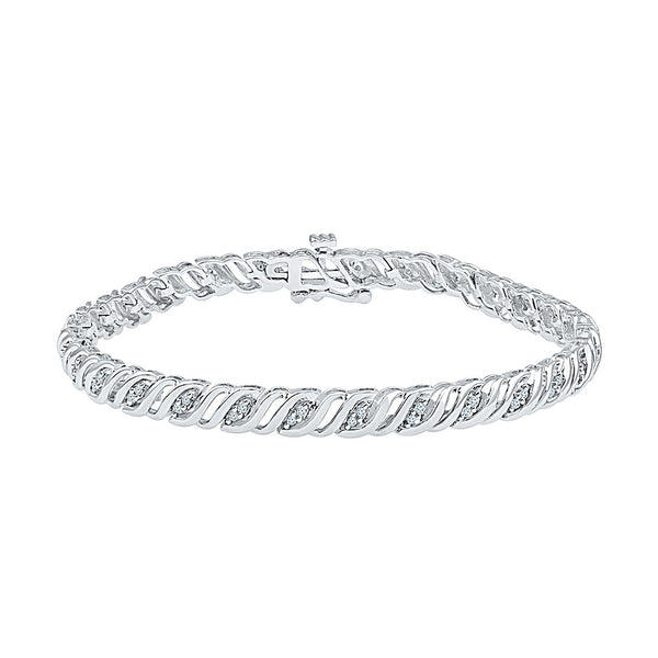 thick diamond bracelet for functions  in white and yellow gold