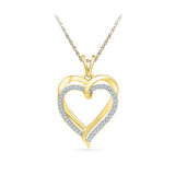 Ravishing Double Heart Diamond Pendant