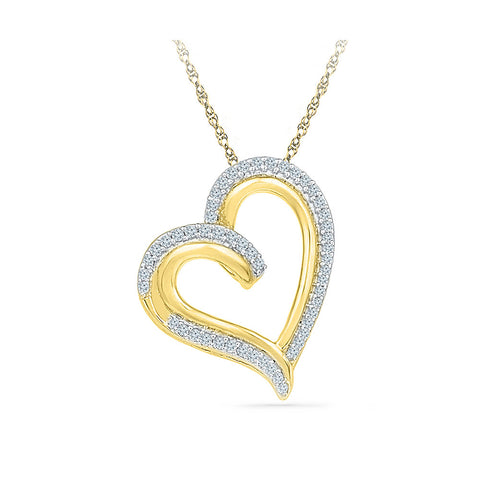 Halo Heart Diamond Pendant  in 14k and 18k Gold online for women