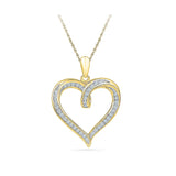 Classic Heart Diamond Pendant