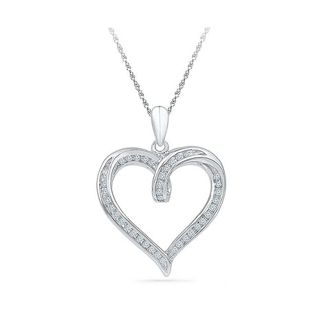 Classic Heart Diamond Pendant in 14k and 18k Gold online for women