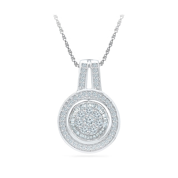 Gong Glamour Diamond Pendant in 14k and 18k Gold online for women