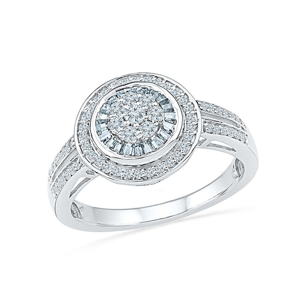 14kt / 18kt white and yellow gold heavily studded circle diamond  in CHANNEL for women online