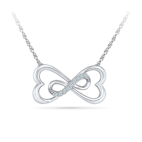 Bowtie Diamond Pendant with chain - Radiant Bay