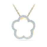 Flower Power Dainty Diamond Pendant