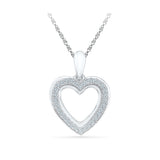 cute heart shape diamond pendant in 14k and 18k Gold online for women