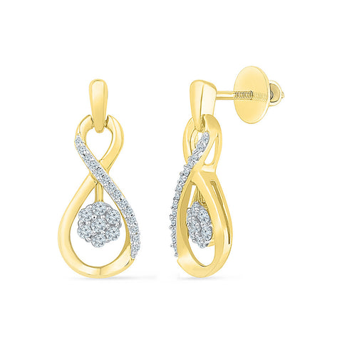 Baby Bloom Diamond Stud Earrings in 14k and 18k gold