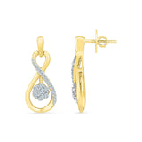 Floral Fall Diamond Earrings