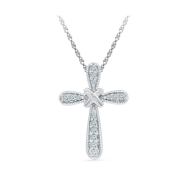 Lord's Grace Cross Diamond Pendant in 14k and 18k Gold online for women