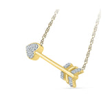 The Cupid Arrow Diamond Necklace