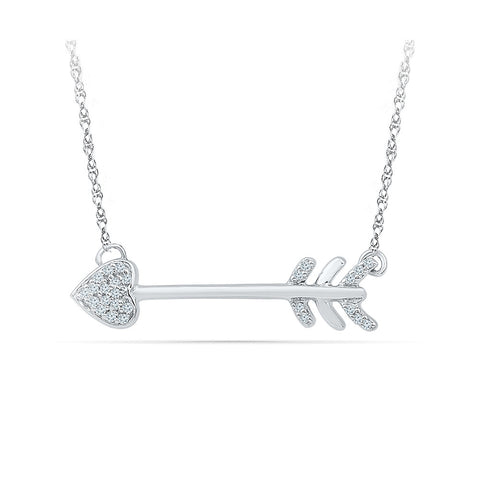 The Cupid Arrow Diamond Pendant in 14k and 18k Gold online for women