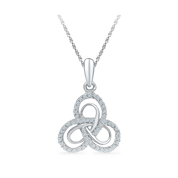 Floral Knot Diamond Pendant in 14k and 18k Gold online for women